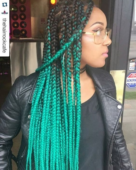 The Best Box Braids With Color 30 Colored Box Braids Styles Pictures