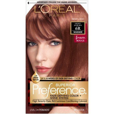 The Best L Oreal® Paris Superior Preference Fade Defying Color Shine System 6R Light Auburn 1 Kit Pictures