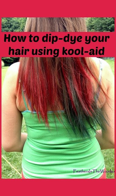 The Best Dip Dyed Kool Aid Hair Feathers In The Woods Pictures