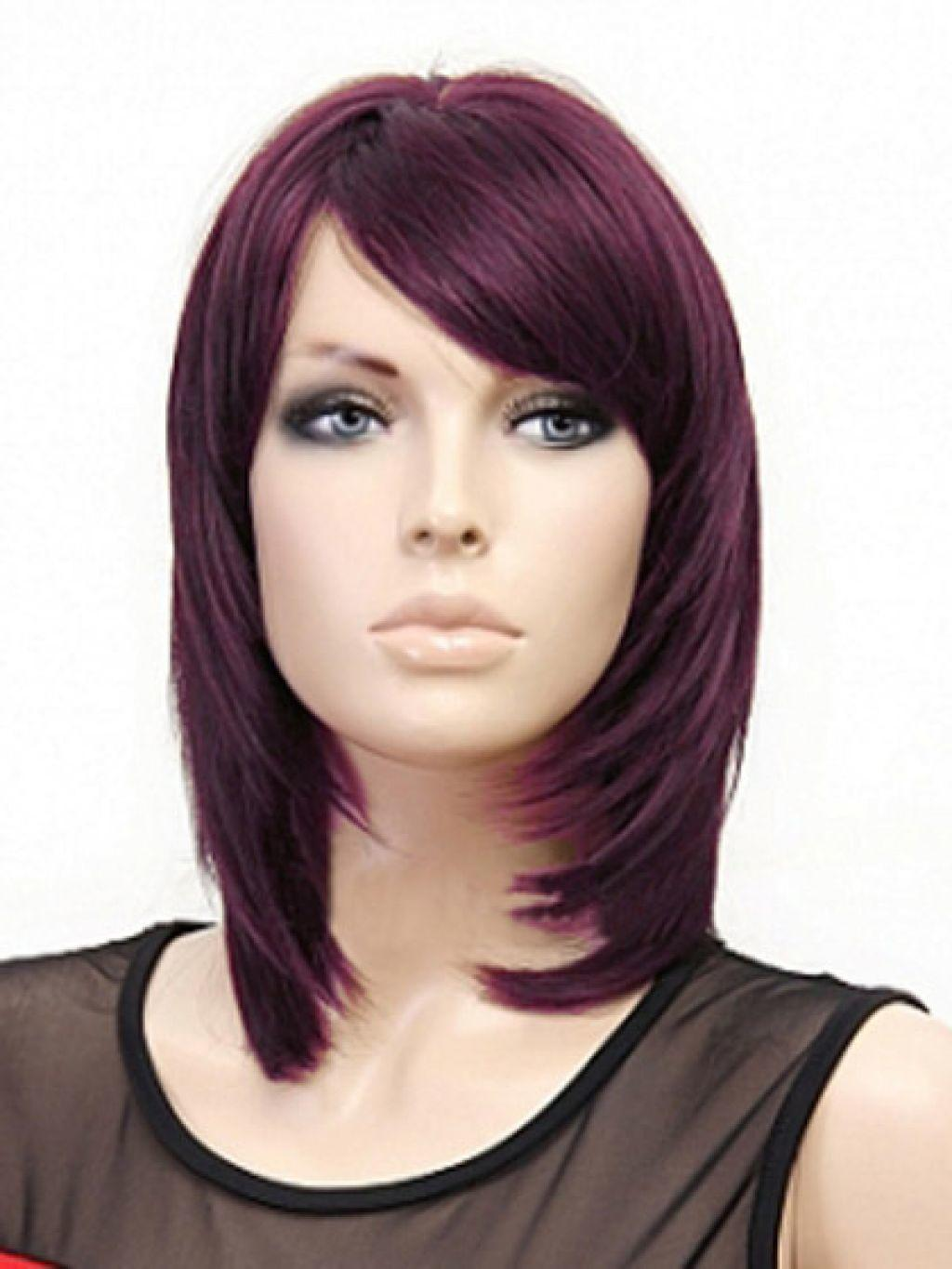 The Best Medium Length Straight Layered Hairstyles Hairstyle For Pictures