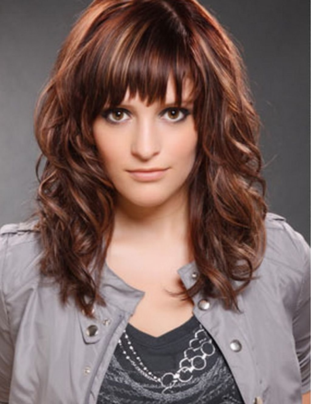 The Best Cute Hairstyles For Medium Curly Hair With Side Bangs Hairstyle For Women Man Pictures