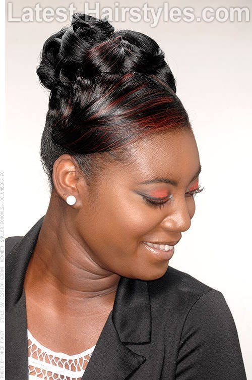 The Best Pin Up Hairstyles For Black Women Hairstylo Pictures