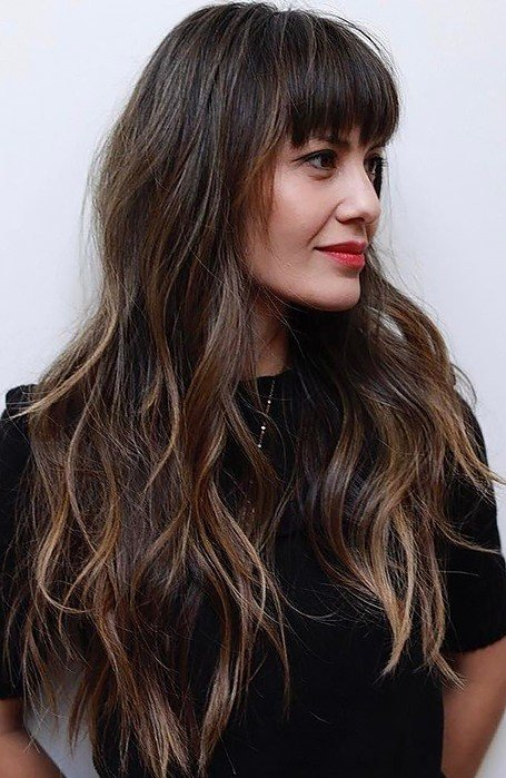 The Best 25 Gorgeous Long Hair With Bangs Hairstyles The Trend Spotter Pictures