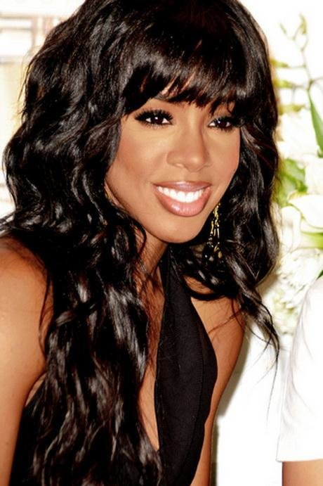 The Best Black Weave Hairstyles With Side Bangs – Design Styles Pictures