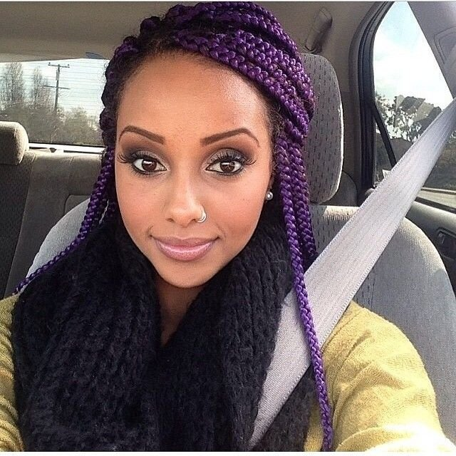 The Best Top 13 Cute Purple Hairstyles For Black Girls This Season Pictures