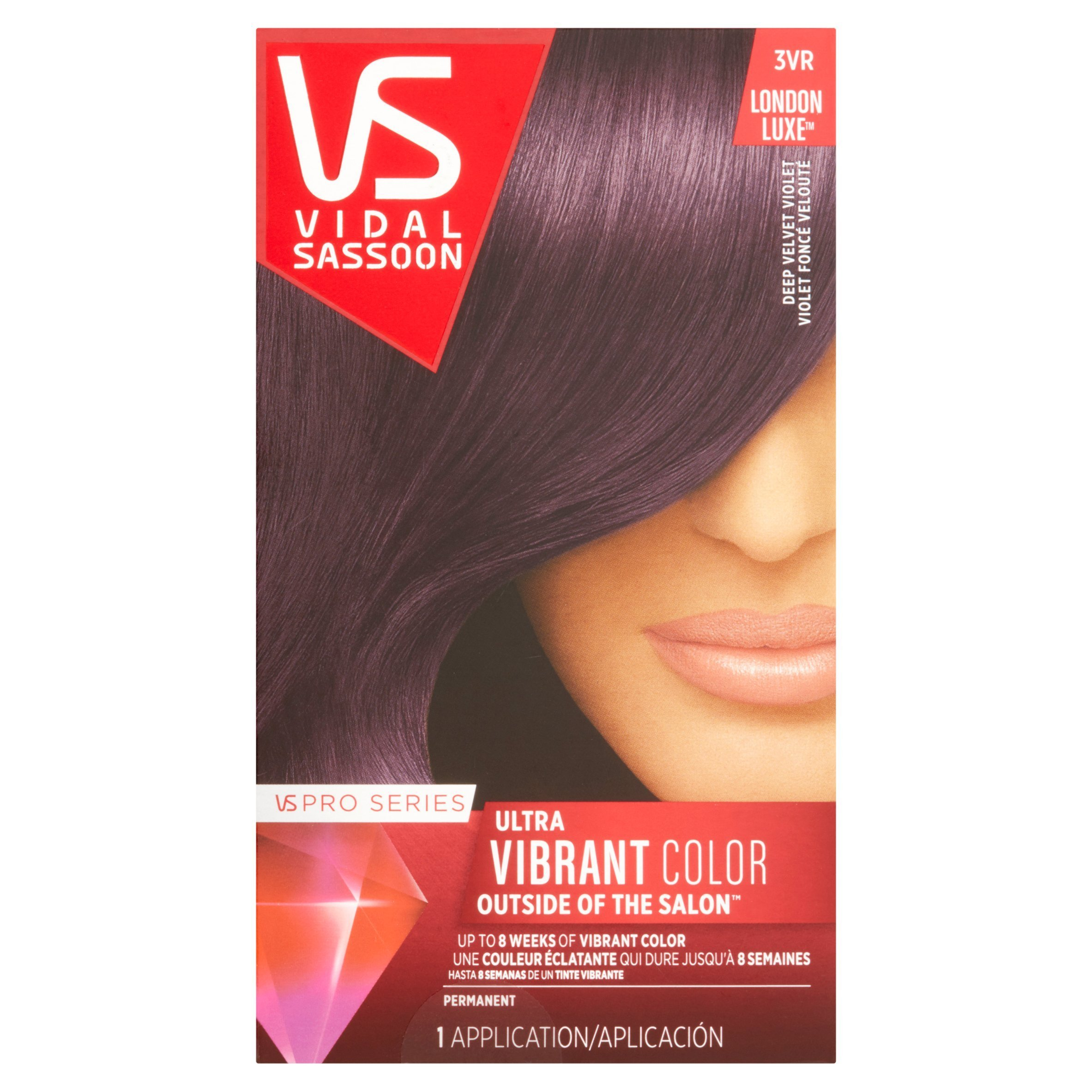 The Best Vidal Sassoon Pro Series Ultra Vibrant Color 3Vr Deep Velvet Violet Hair Color 1 Application Pictures