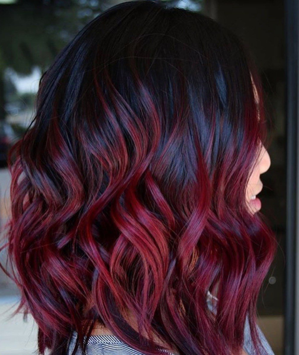 The Best Mulled Wine Hair Color Is Making A Comeback And We Want Pictures