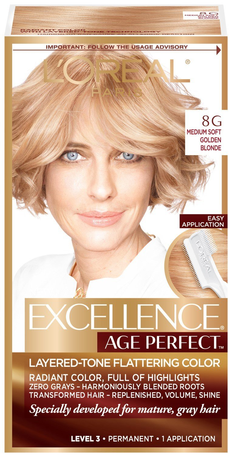The Best L Oreal Paris Excellenceage Perfect Layered Tone Flattering Color 8G Medium Soft Golden Blonde Pictures
