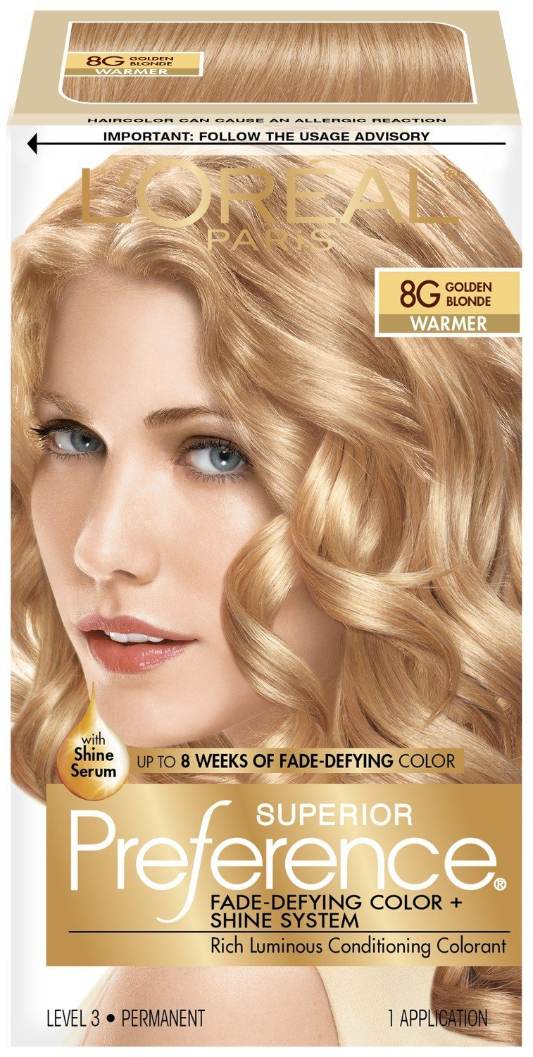 The Best L Oreal Paris Superior Preference Fade Defying Color Shine System 8G Golden Blonde 1 Kit Pictures