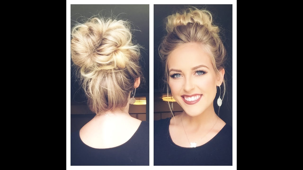 The Best Cute Messy Bun Less Than 5 Min Youtube Pictures