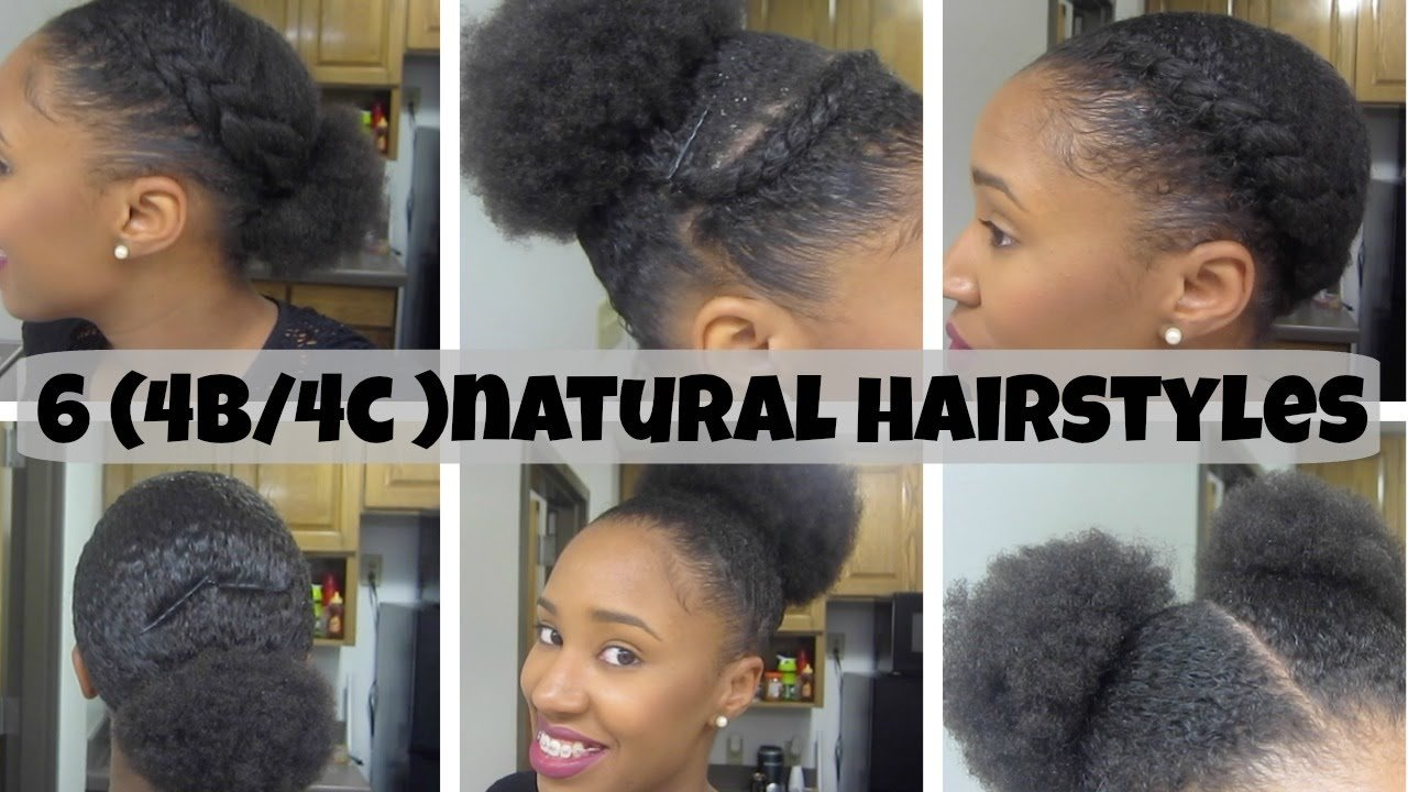 The Best 6 Natural Hairstyles On Short Medium Hair 4B 4C Youtube Pictures