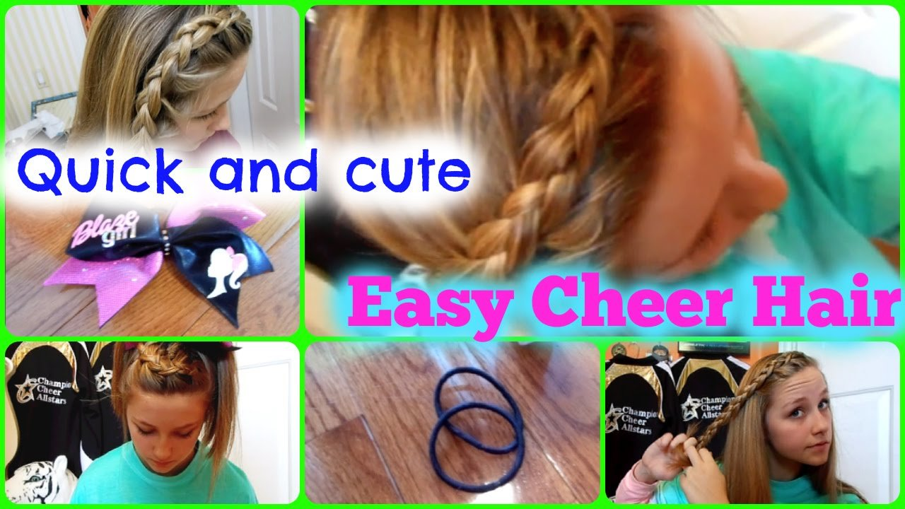 The Best Quick And Easy Cheer Practice Hairstyles Youtube Pictures
