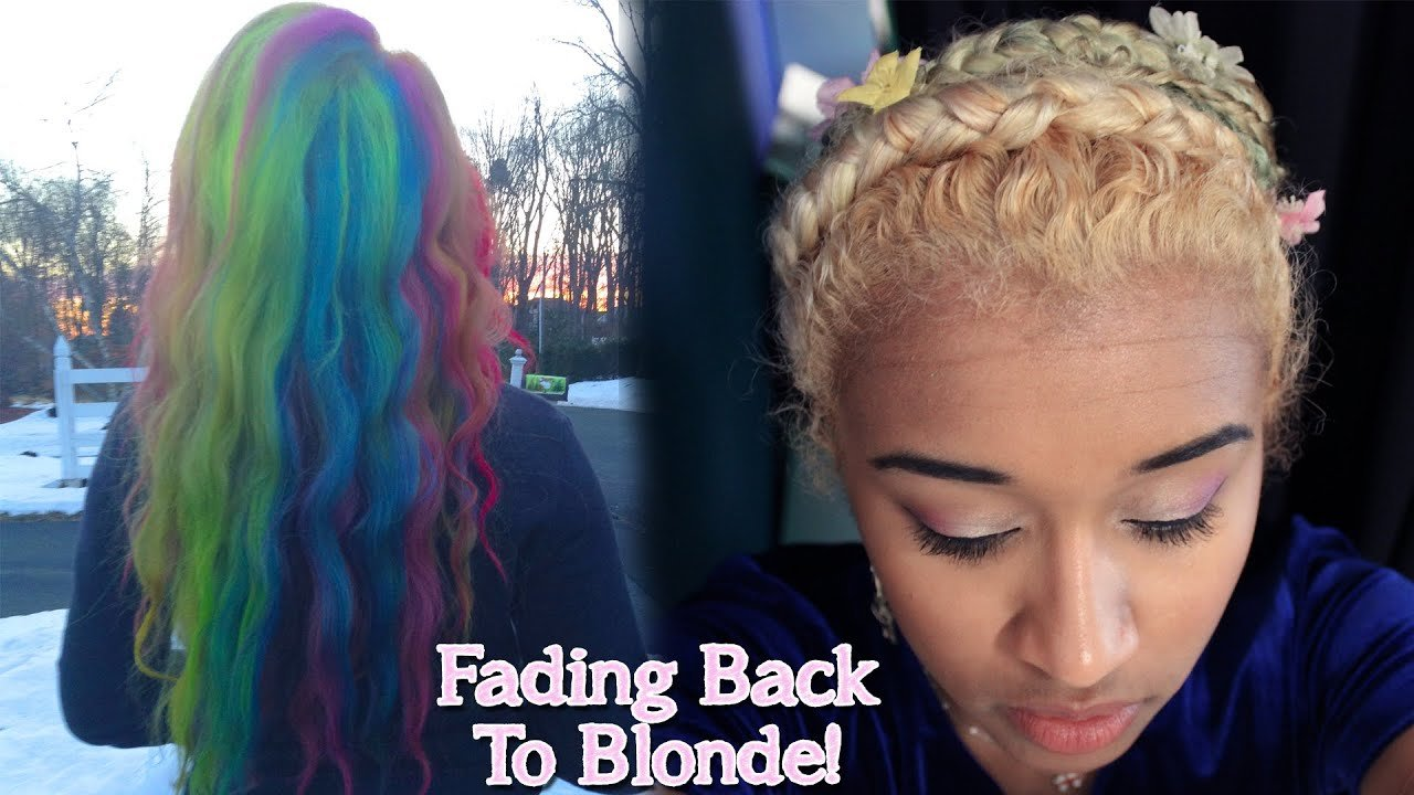 The Best How To Get Back To Blonde Hair After Dying It With Semi Or Pictures