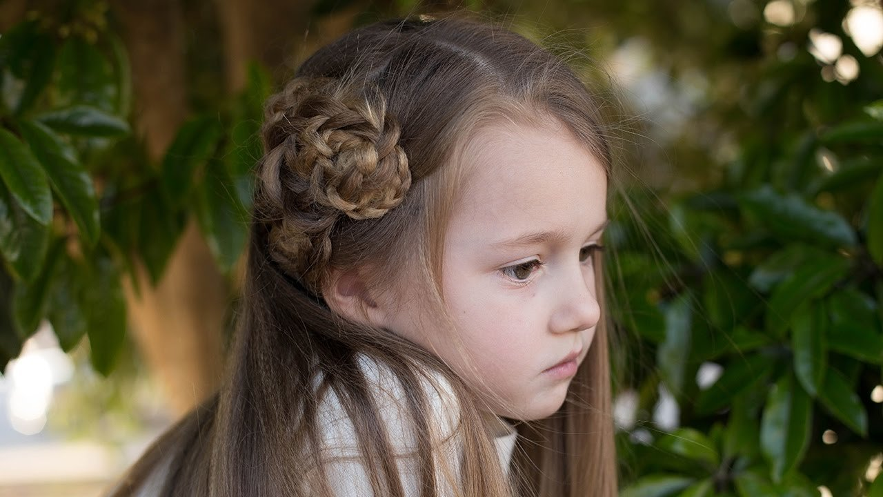 The Best Side Triple Flower Cute Girls Hairstyles Youtube Pictures