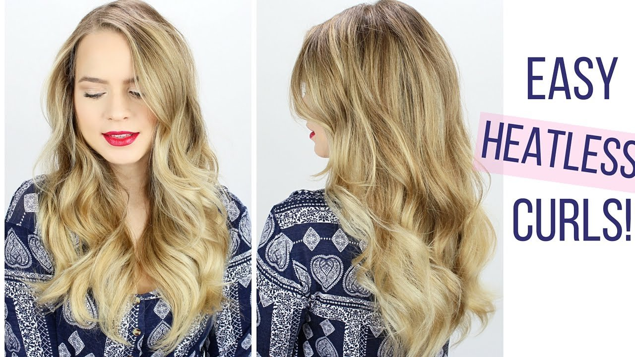 The Best Easy Heatless Curls Hair Tutorial Youtube Pictures