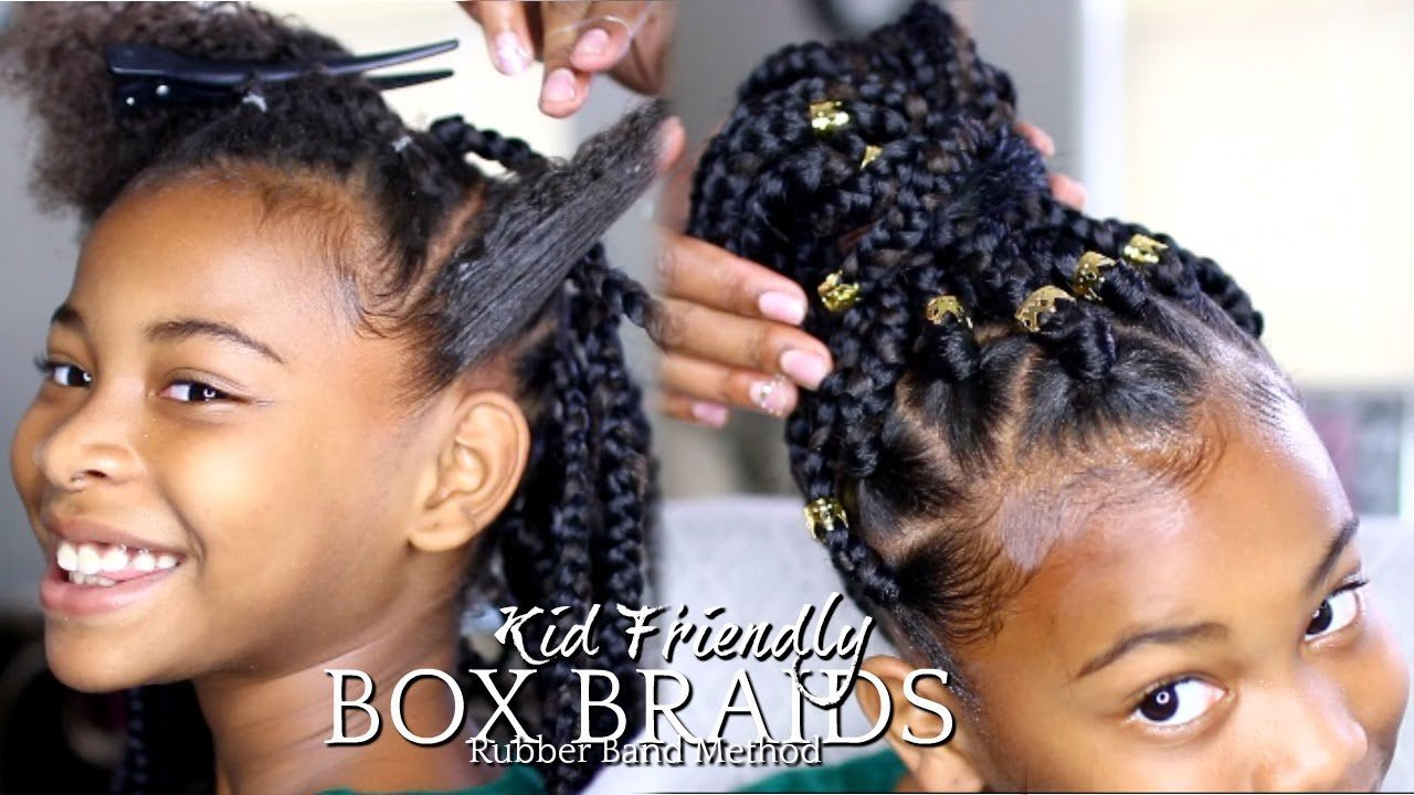 The Best Natural Hair How To Box Braids Rubber Band Method Pictures