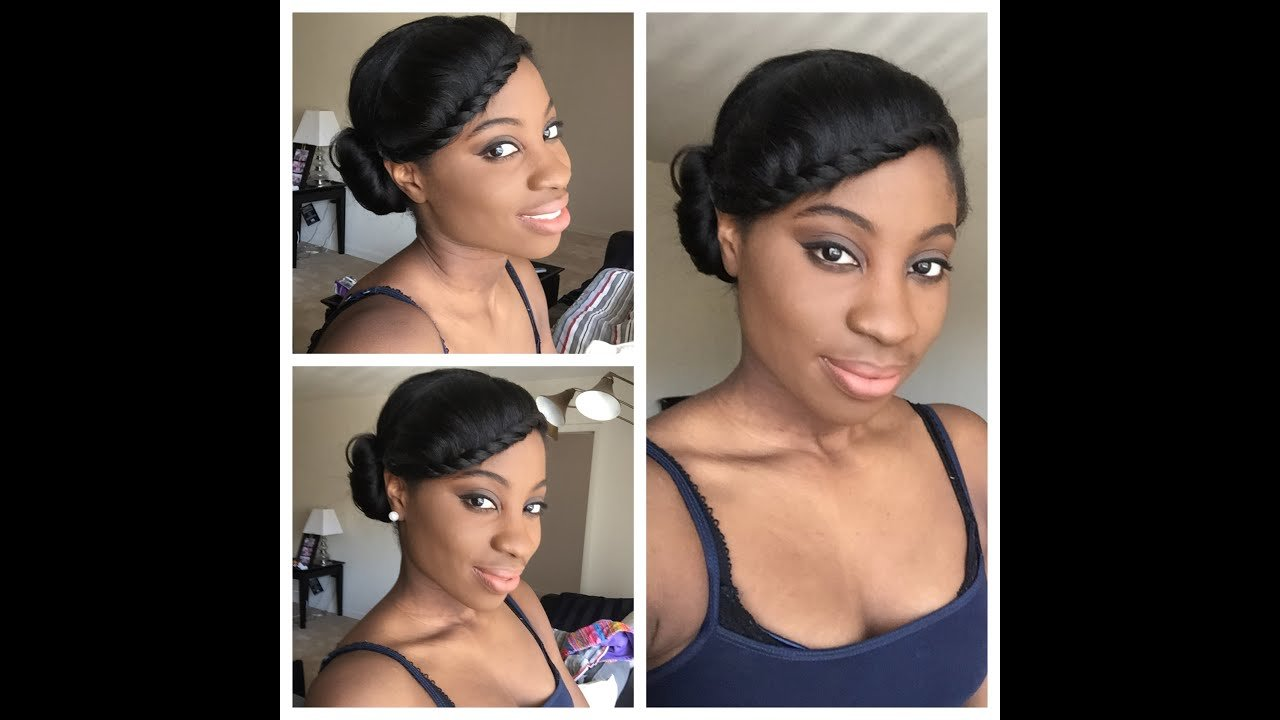 The Best Simple Protective Style Relaxed Hair Youtube Pictures