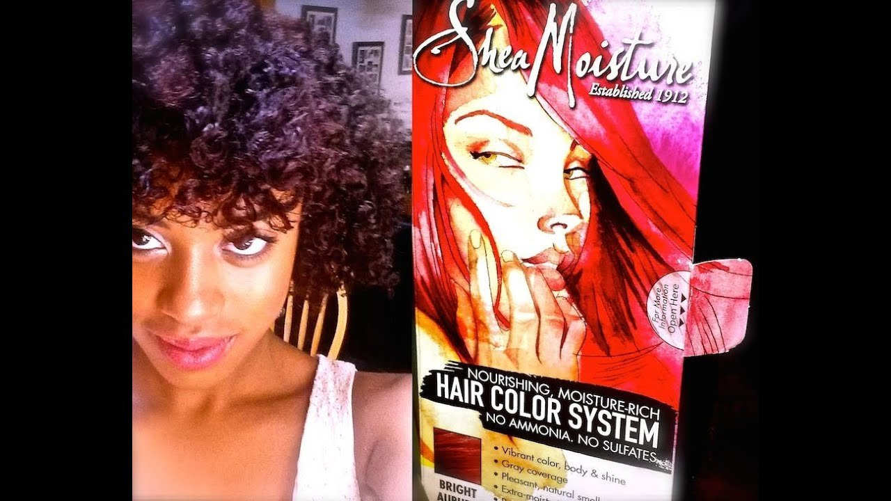 The Best Shea Moisture Hair Color System Bright Auburn Review Demo Pictures