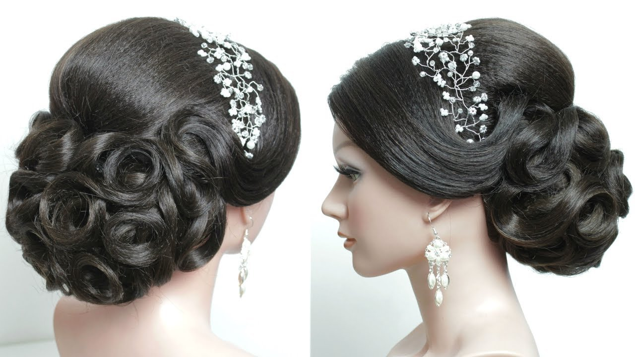 The Best Bridal Hairstyle For Long Hair Tutorial Prom Updo Step By Pictures
