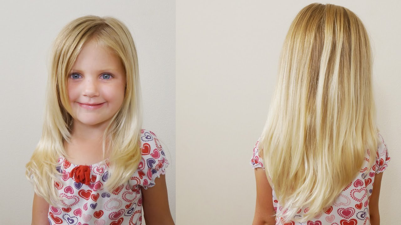 The Best How To Cut Girls Hair Long Layered Haircut For Little Pictures