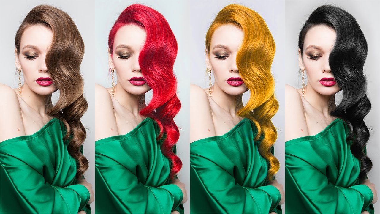 The Best Change Hair Color To Black Gold Brown Red Photoshop Tutorial Photoshopdesire Com Youtube Pictures