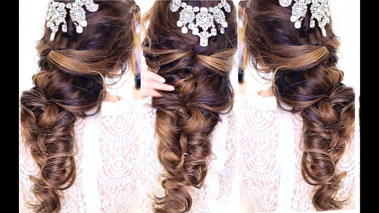 The Best Easy Crisscross Half Updo Hairstyle ★ Wedding Homecoming Pictures