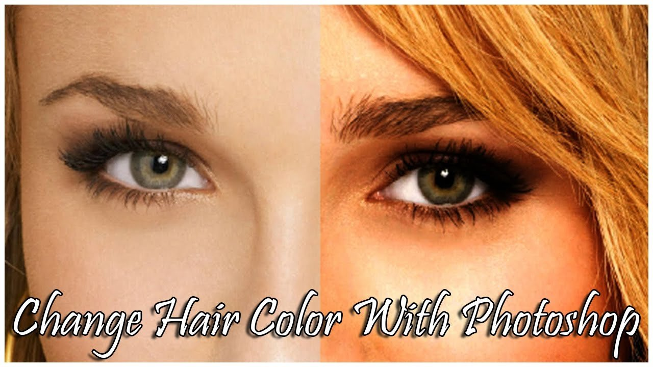 The Best Change Hair Color Using Photoshop Tutorial Youtube Pictures