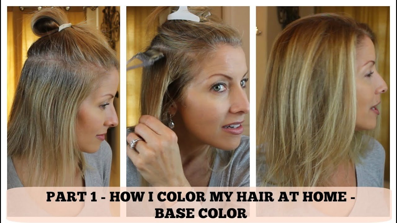 The Best Part 1 Home Hair Color How I Color The Base Youtube Pictures