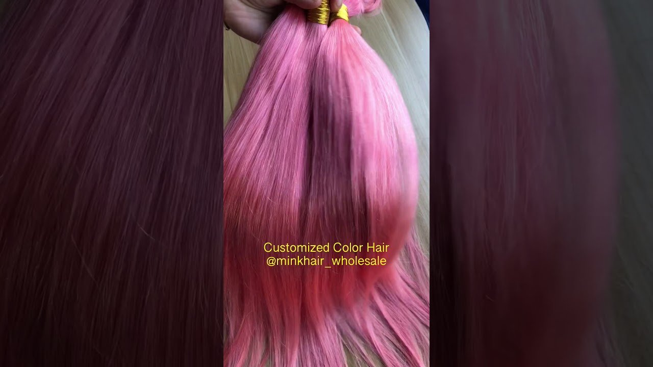 The Best Pink Color Hair Mink Hair Youtube Pictures