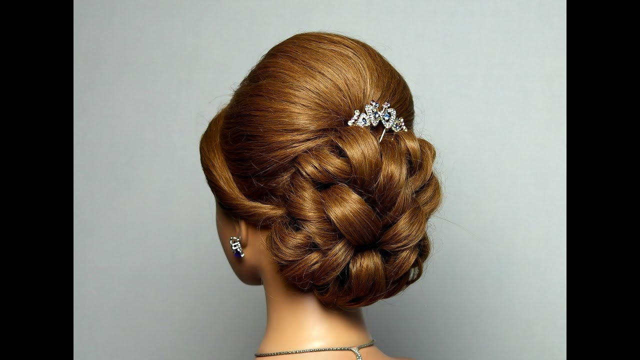 The Best Wedding Prom Hairstyle For Long Hair Bridal Updo Youtube Pictures