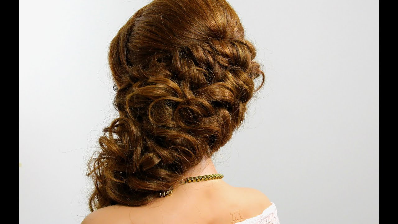 The Best Prom Bridal Hairstyle For Long Hair Tutorial Step By Step Youtube Pictures