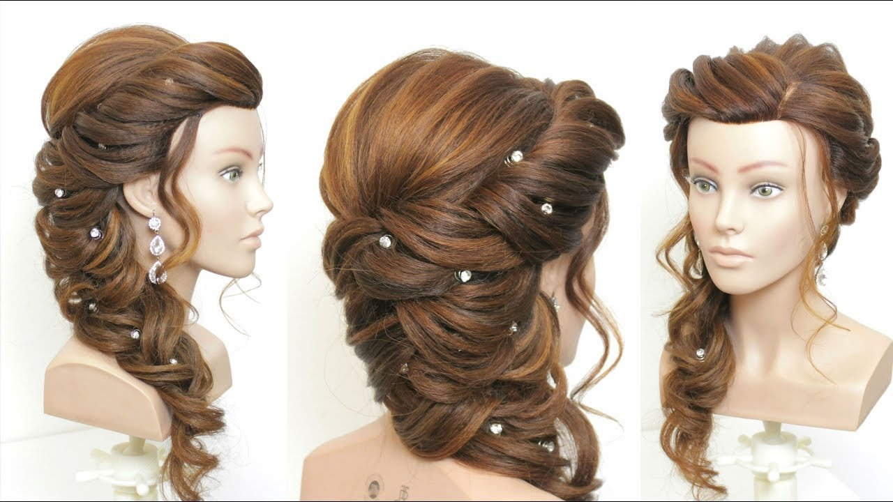 The Best New Bridal Prom Hairstyle For Long Hair Step By Step Youtube Pictures