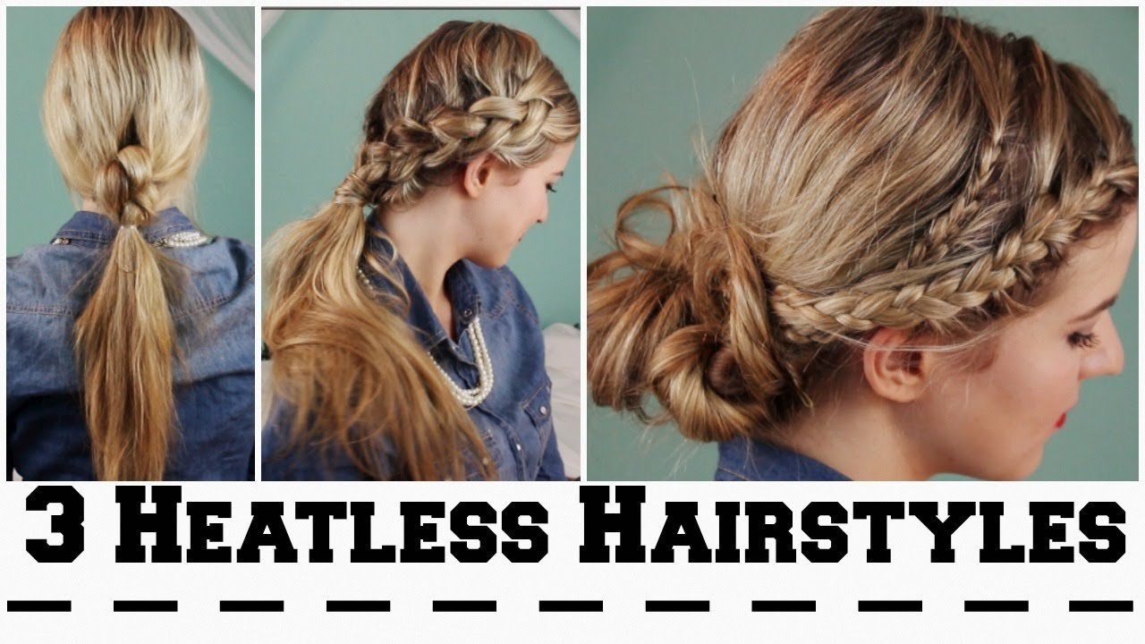 The Best 3 Heatless Hairstyles For Back To School Youtube Pictures