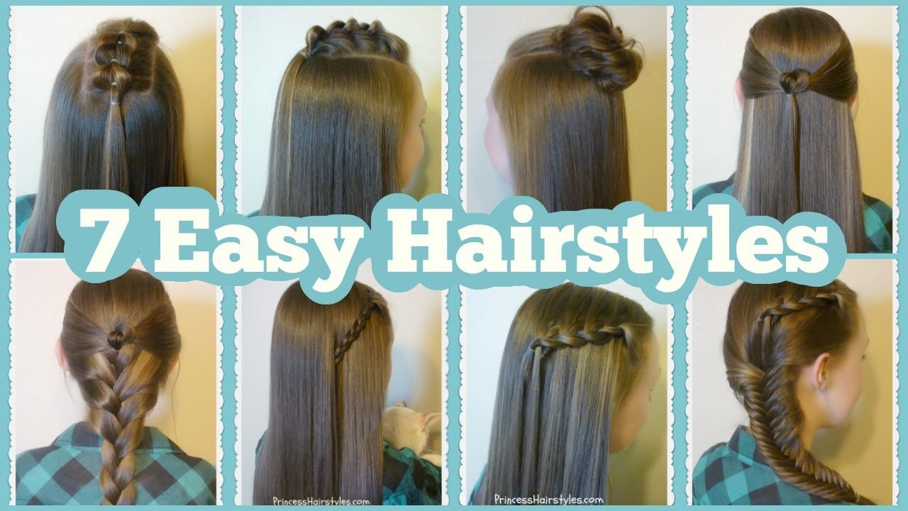 The Best 7 Quick And Easy Hairstyles For School Youtube Pictures