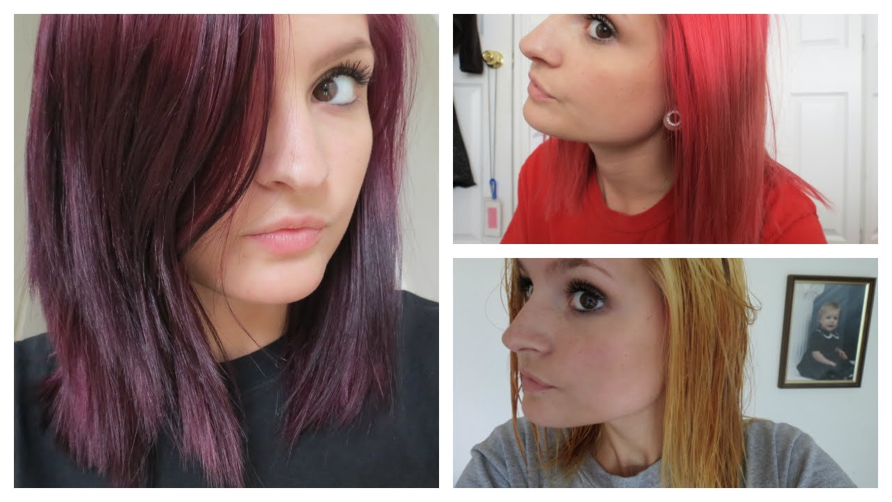 The Best How I Went From Bright Red To Purple Hair Color Oops Pictures