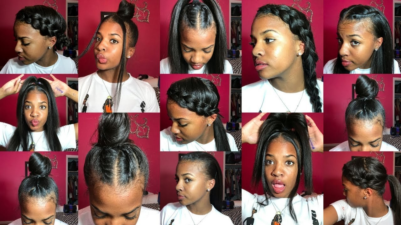 The Best 13 Styles For Straightened Natural Hair 1K Giveaway Pictures