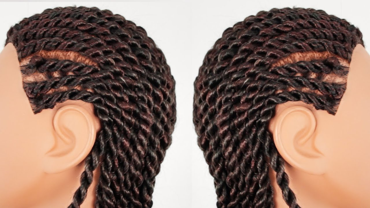 The Best Senegalese Rope Twist Cornrows Finished Hairstyle Part 3 Pictures