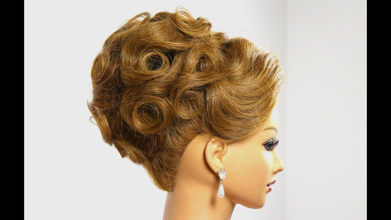 The Best Bridal Updo Wedding Hairstyle For Medium Hair Tutorial Pictures