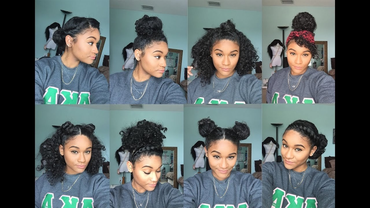 The Best Natural Hair 8 Bun Styles For Curly Hair Youtube Pictures