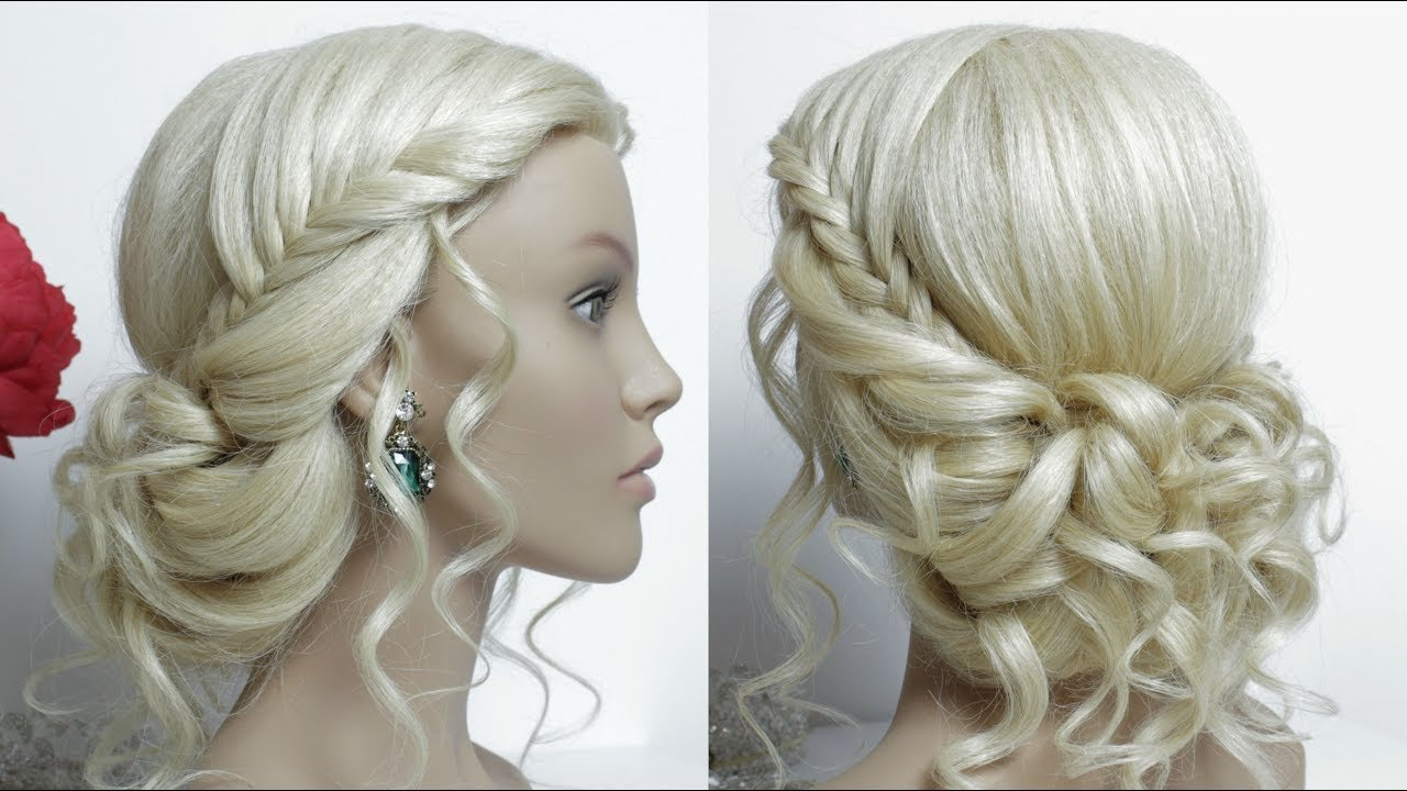 The Best Bridal Hairstyle For Long Hair Tutorial Prom Updo Youtube Pictures