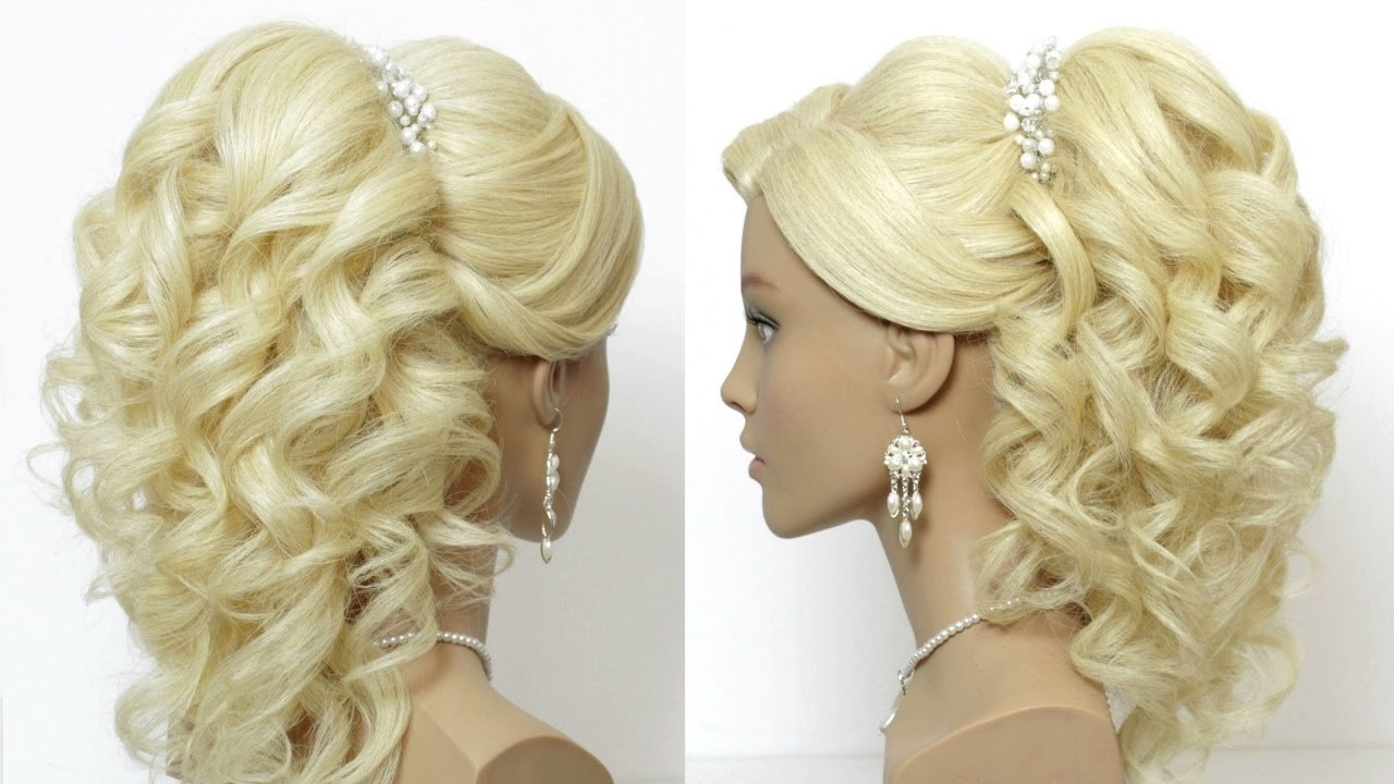 The Best Wedding Prom Hairstyle For Long Hair With Curls Tutorial Pictures