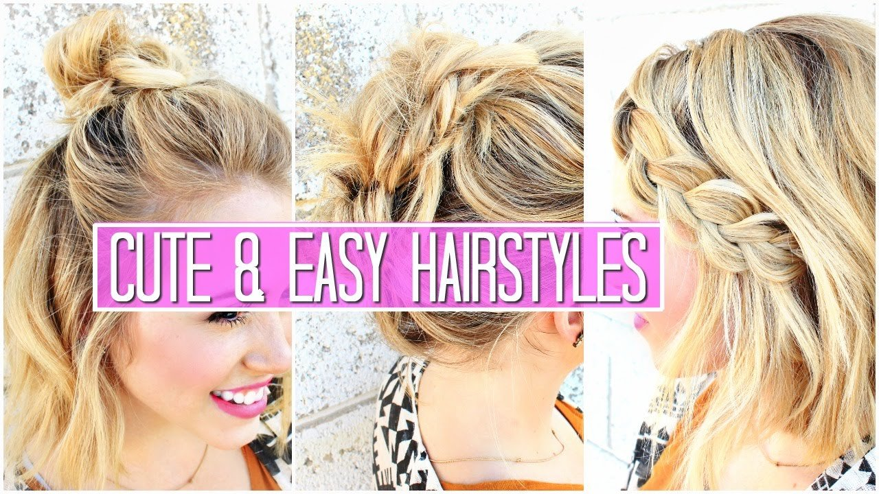 The Best 3 Easy Hairstyles For Short Medium Hair Tutorial Cute Pictures