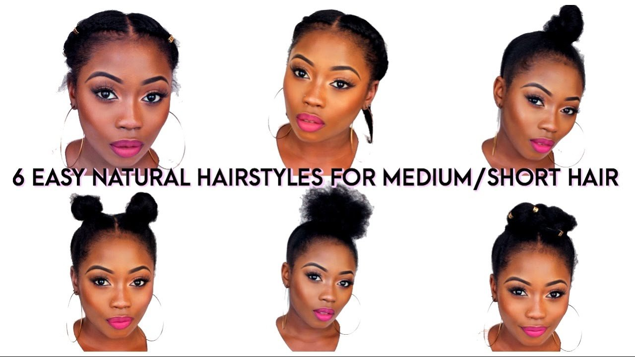 The Best 6 Back To School Quick Natural Hairstyles For Short Medium Pictures