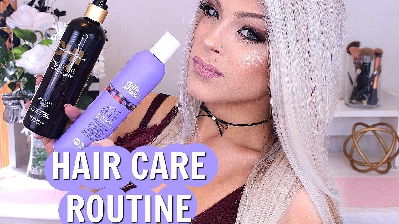 The Best Haircare Hair Color Routine Icy Blonde Hair Hair Products I Use Valerie Pac Youtube Pictures