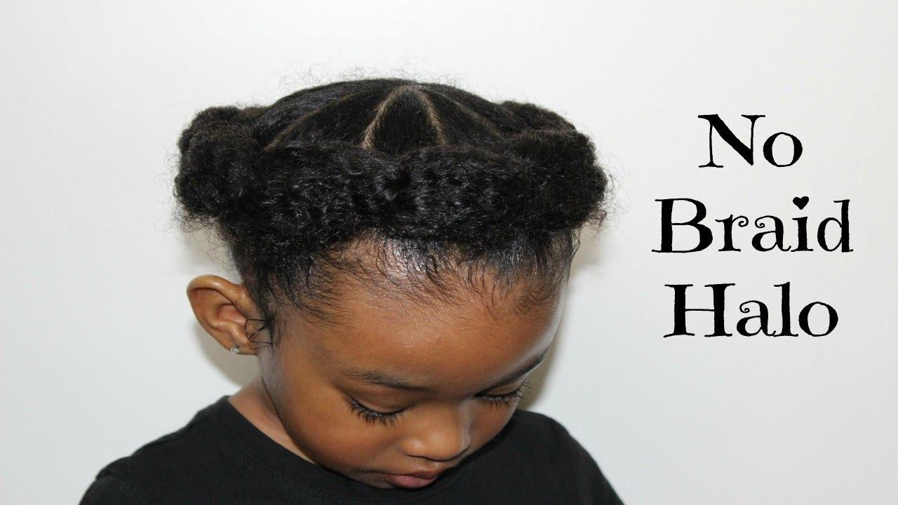 The Best No Braid Halo Hairstyles For Little Girls Youtube Pictures