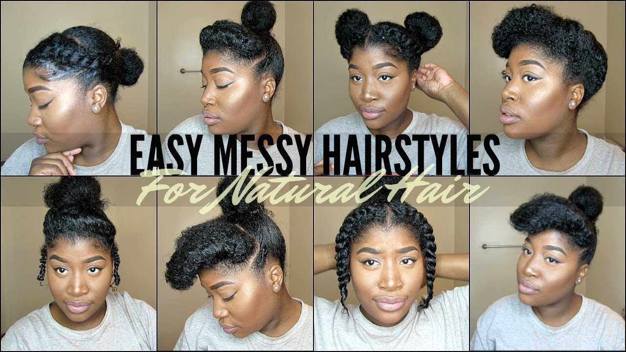 The Best 8 Quick Easy Natural Hairstyles For 4 Type Natural Hair Youtube Pictures