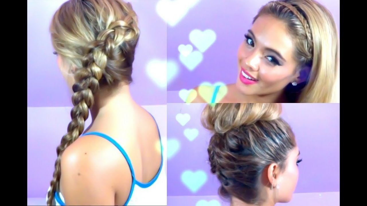 The Best 3 Quick And Easy Hairstyles Summer Hair Braided Hair Pictures