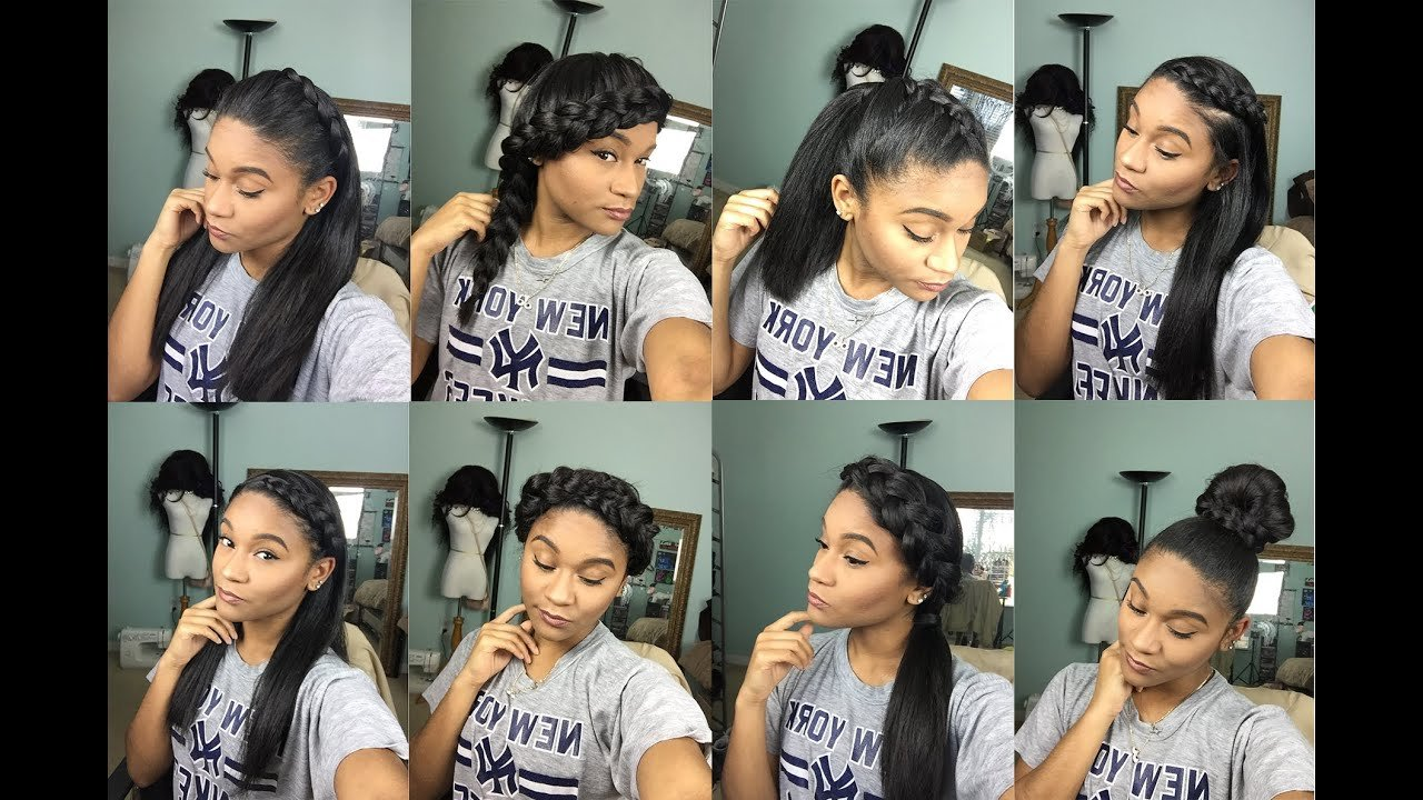 The Best Natural Hair 8 Braided Styles For Straight Hair Youtube Pictures