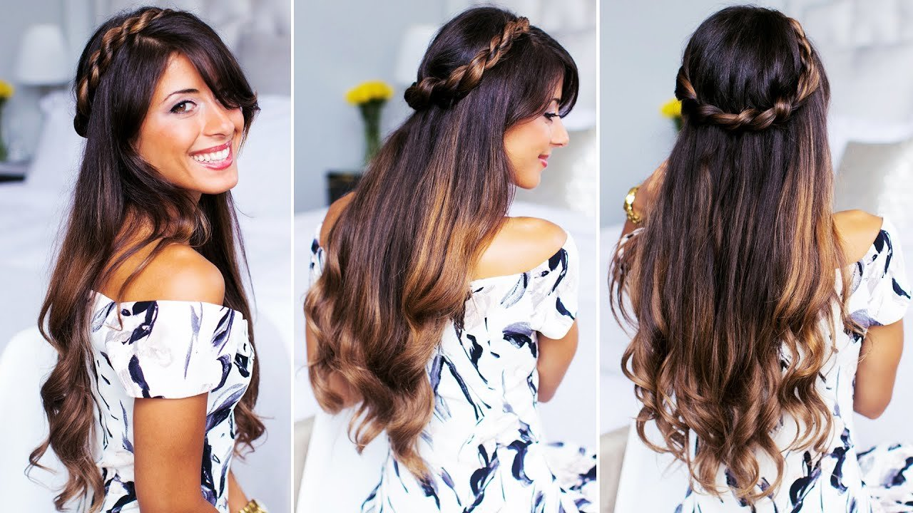 The Best Twisted Half Up Do Hairstyle Youtube Pictures