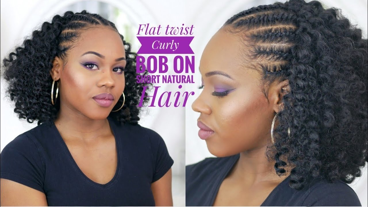 The Best Flat Twist Curly Bob Crochet Wand Curls Short Natural Pictures